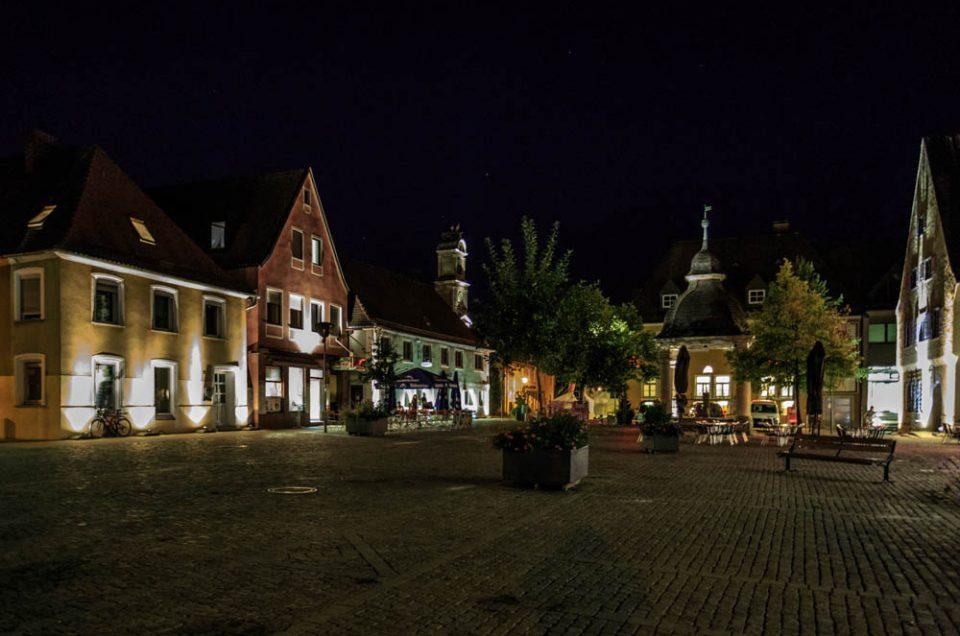 Höchstadt bei Nacht