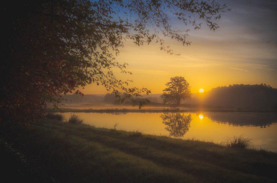 Sonnenaufgang am Karpfenweiher